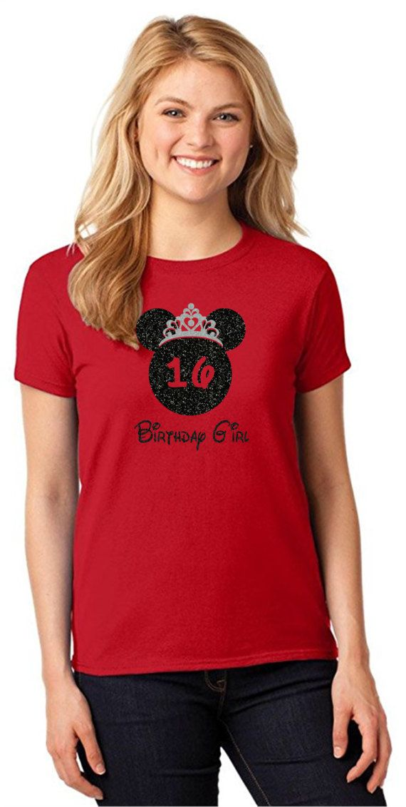 Minnie Mouse Anniversaire Chemise Disney Adulte Tshirt Personnalisee Birthday T Shirt