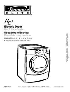 Kenmore Elite He3 Dryer Kenmore Dryer Kenmore Elite