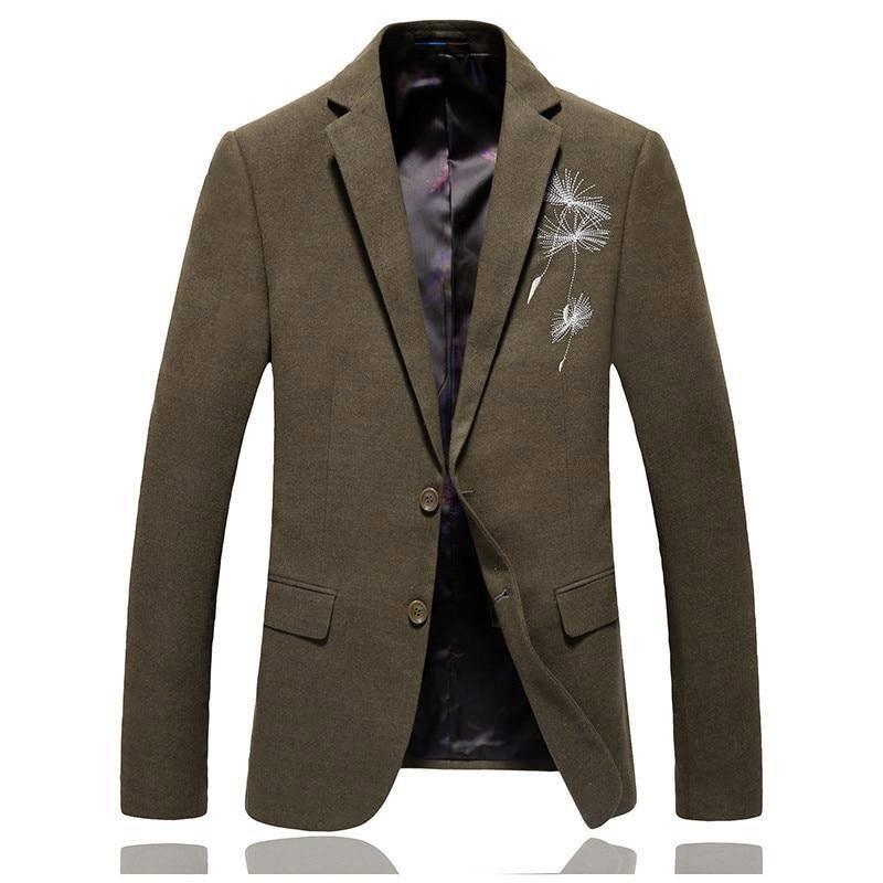 Blazer men's spring autumn cotton formal slim fit suit dinner dress luxury casual #mensclothing #menssuitsblazers #mensblazers #mensblazers