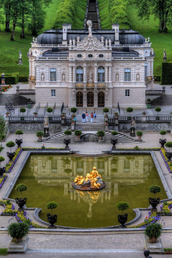 Schloss Linderhof Ettal Germany Castle Linderhof Palace Beautiful Places