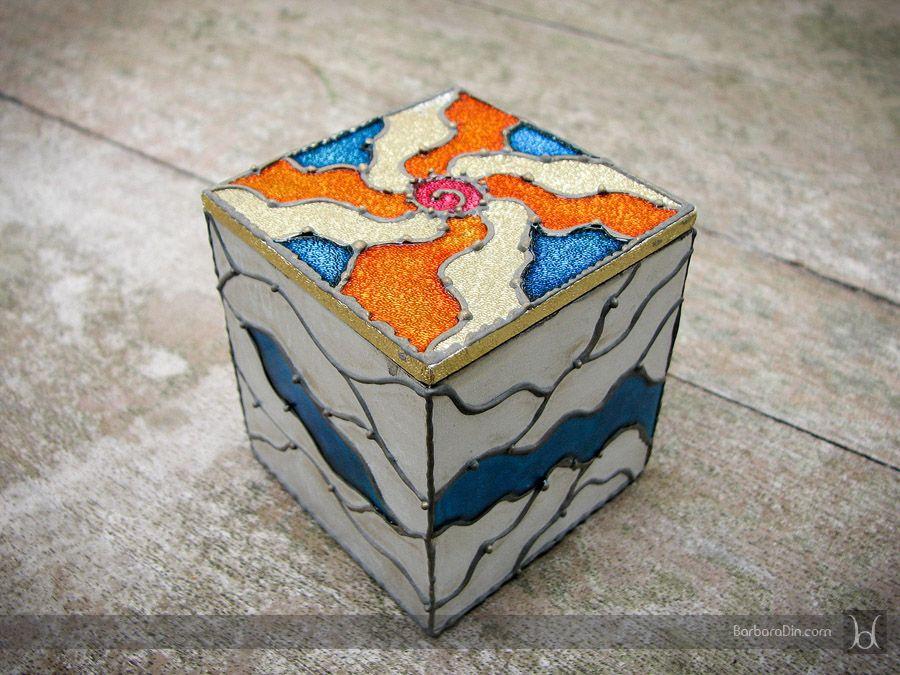 Paper Decorative Boxes Enchanting Faux Vitraux Boxbarbara Din  #decorative #box #crafts Design Decoration