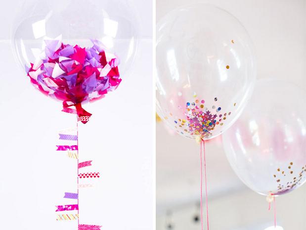Ballon confettis mariage ballons pinterest mariage - Decoration mariage avec ballon ...