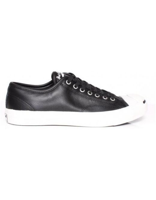 53863ea7d752b8 CONVERSE JACK PURCELL LEATHER OX - BLACK £ 49.95