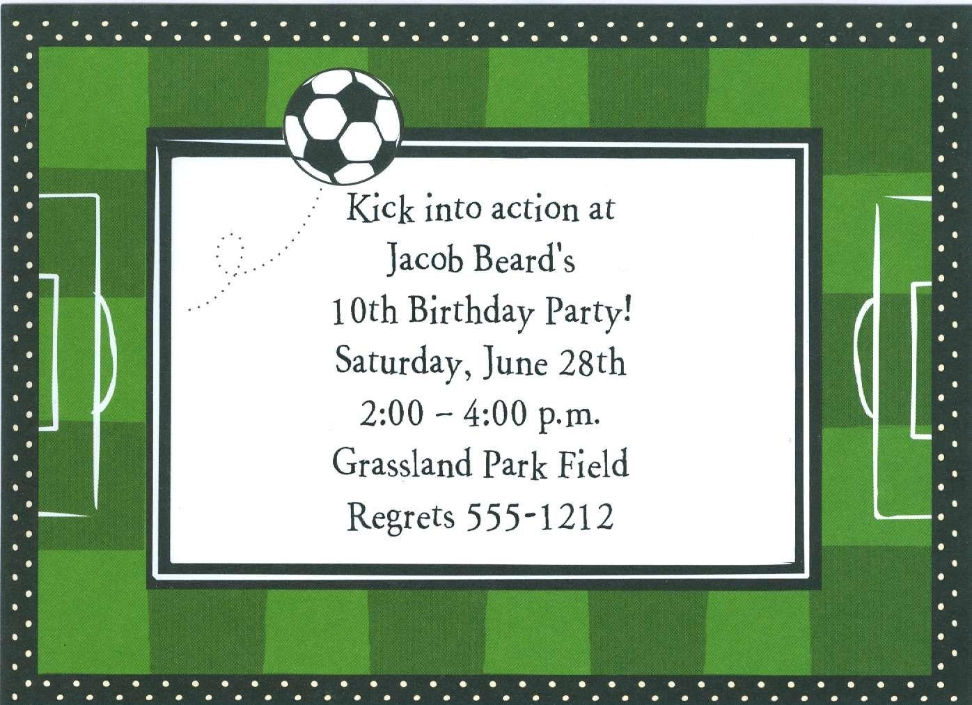 soccer party invitations sndclshcom - Soccer Party Invitations