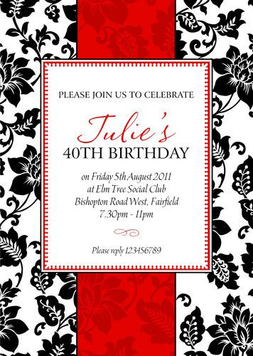 10 x personalised 30th 40th 50th 60th birthday party invitations any 10 x personalised 30th 40th 50th 60th birthday party invitations any age filmwisefo