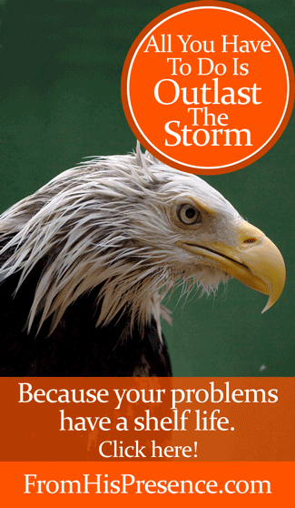 All you have to do is outlast the storm! Click here for an encouraging word by Jamie Rohrbaugh | FromHisPresence.com