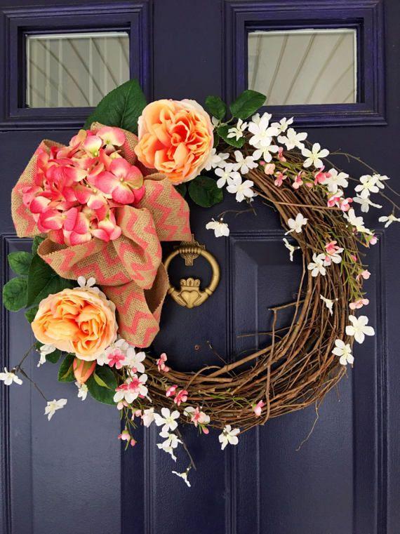 Hydrangea Wreath Summer Wreath Spring Wreath Wreath Front Door