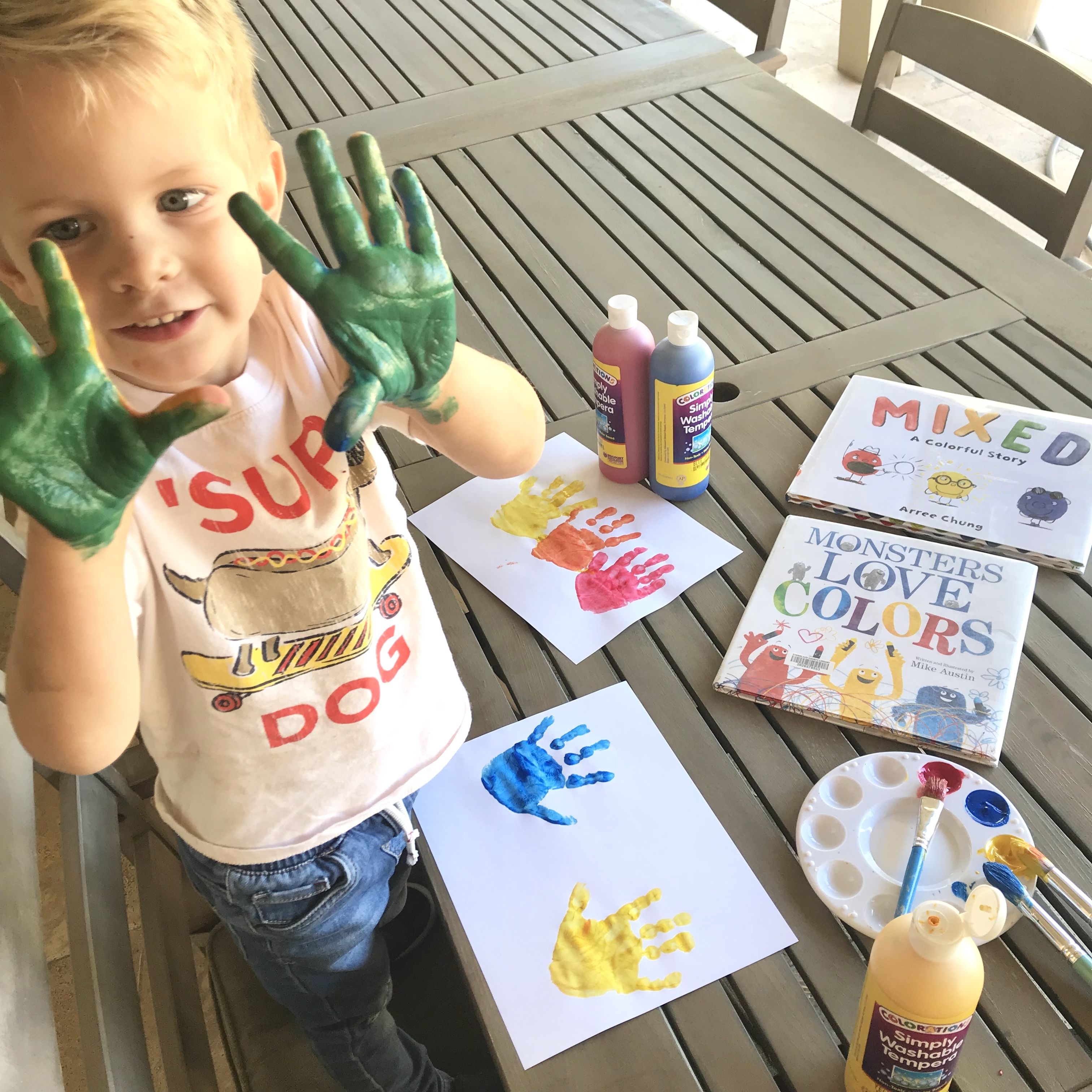 Easy Way To Learn Primary Colors And Color Mixing With