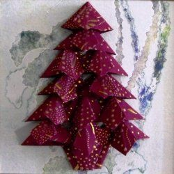 On this page is included my version of the tea bag fold Christmas tree for handmade Holiday cards. A set of simple 4x5 inch Christmas greeting...
