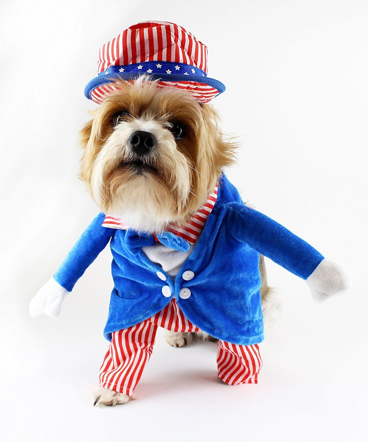Uncle Sam 4th Of July Fake Arms Dog Costume By Midlee Learn More