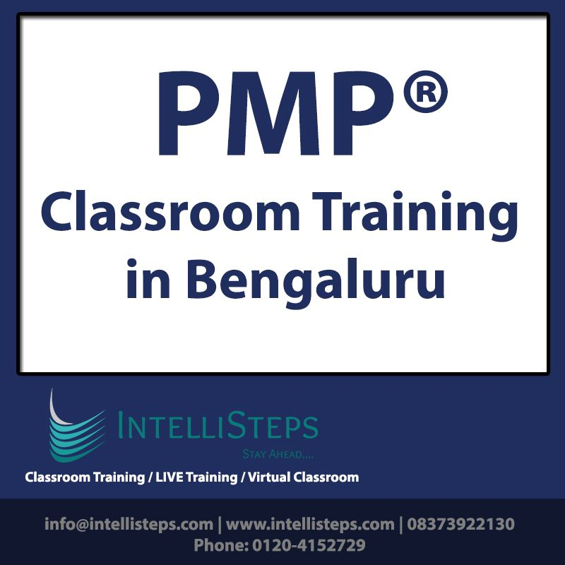 Prepare For Pmp Examination In Your City Bengaluru With Intellisteps Comprehensive Pmp Program With 100 Classroom Info Classroom Training Training Classes
