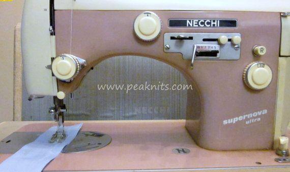 40s Necchi Supernova Ultra Italian Sewing By PeaknitGallery Amazing Italian Sewing Machines