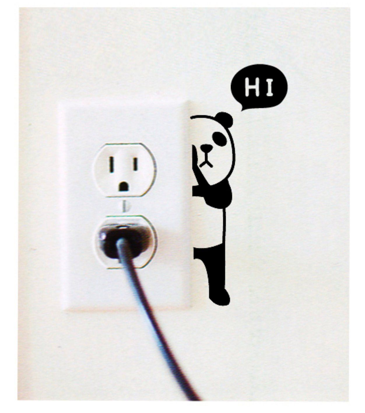 Funny Headphones Wall Sticker Switch Vinyl Decal Funny Lightswitch Kids Room DIY