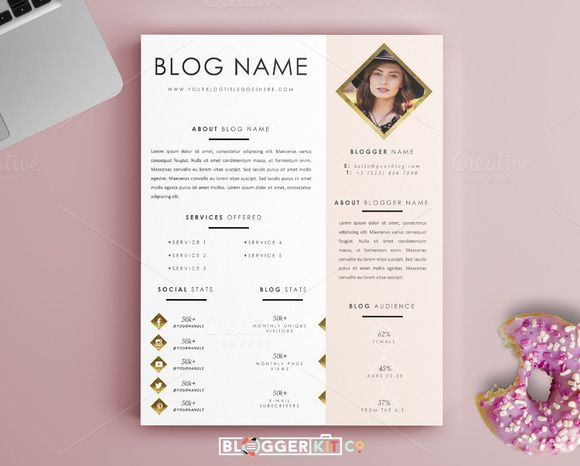 Pg Media Kit Template Ms Word By Blogger Kit Co On