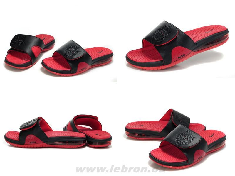 cce7014d3 487332 010 Nike Air Lebron Slide Black red