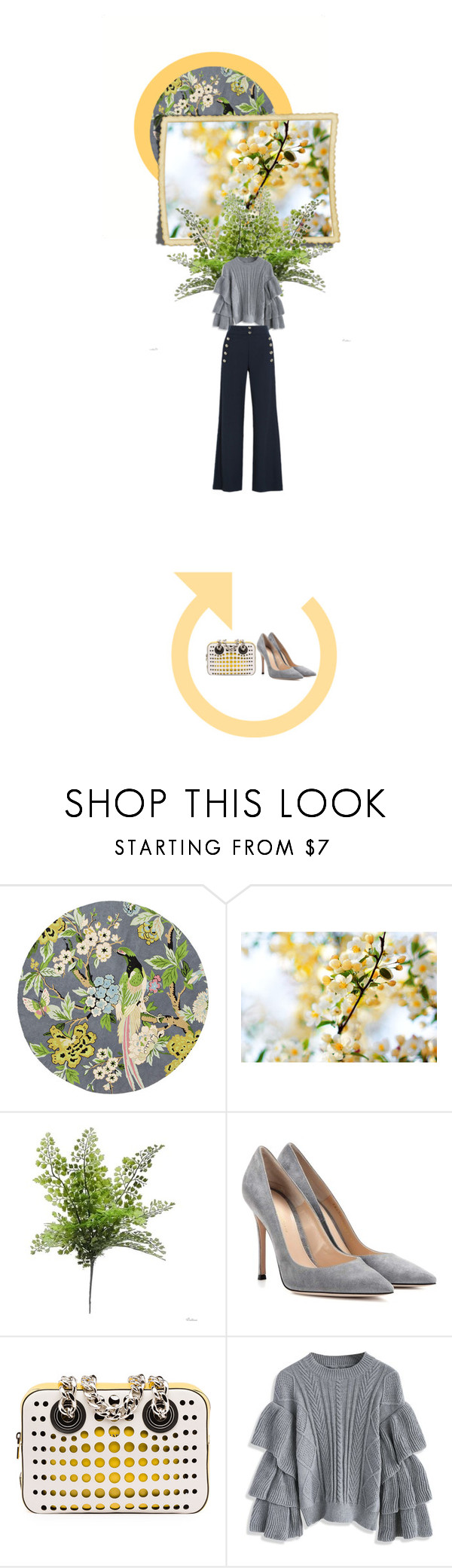 """Sin título #173"" by ladymarian ❤ liked on Polyvore featuring Anthropologie, Hostess, Gianvito Rossi, Prada, Chicwish and Chloé"
