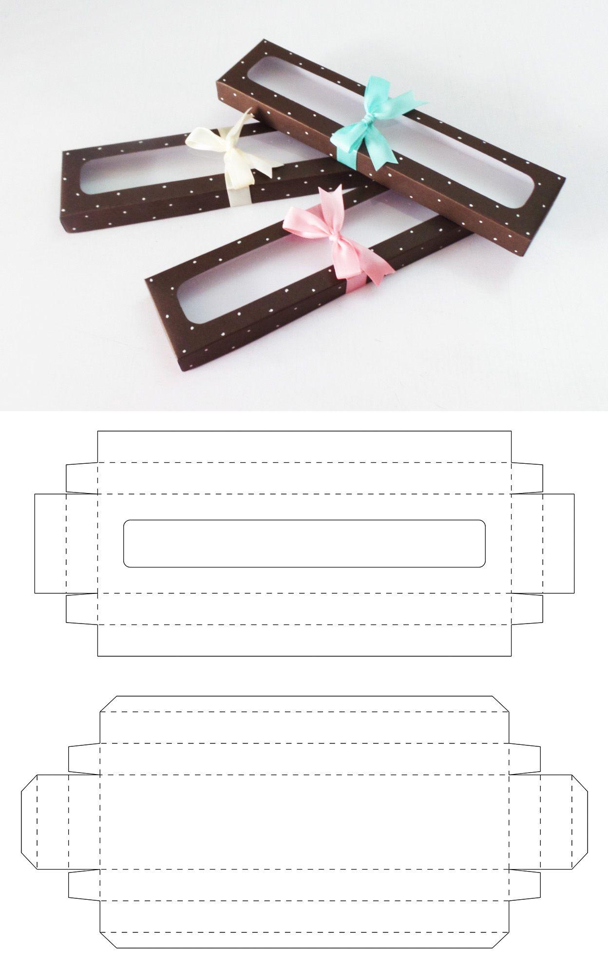 Caja de 26 x 6 x 2cm para galletas y brownies