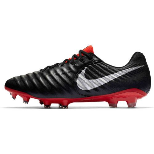 3b61a99b0 Buy the Nike Tiempo Legend 7 Elite FG - Black/Metallic Silver/Light Crimson  and get an awesome shoe that's made its wearers great for generations!