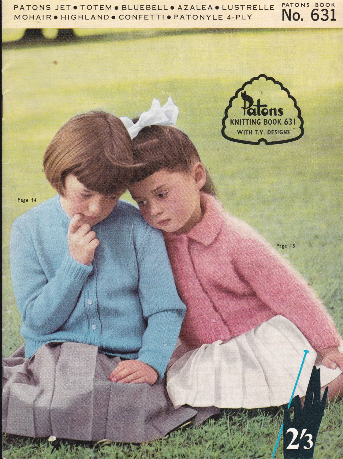 Paton\'s Knitting Pattern No 631 For Children Boys and Girls Aged ...