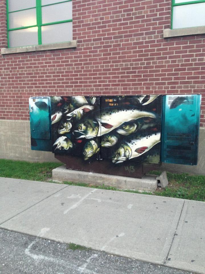 Toronto Graffiti - fish!