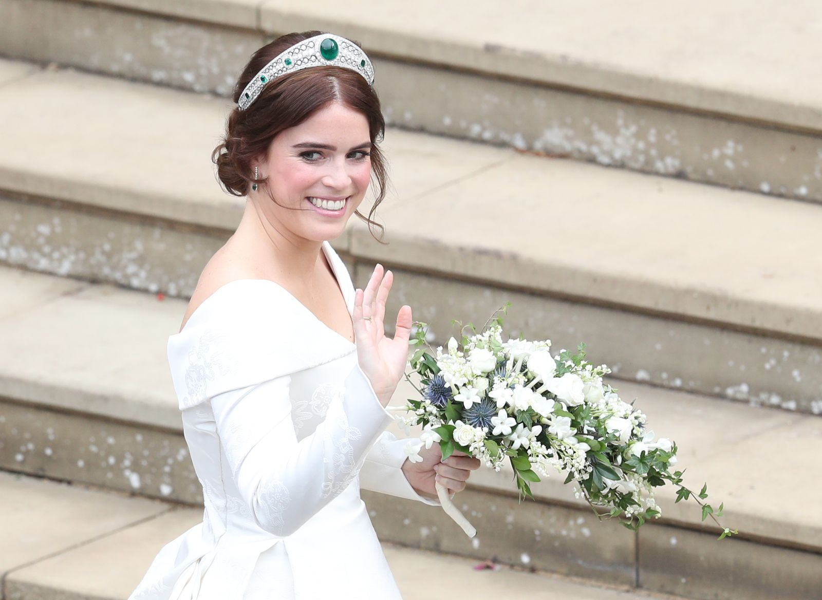 See All Of The Photos From Princess Eugenie And Jack Brooksbank S Wedding Princess Margaret Wedding Eugenie Wedding Wedding Dresses Vogue [ 1168 x 1600 Pixel ]