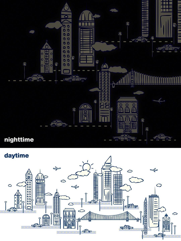 WallCandy Arts - Nightscape Glow-In-The-Dark Decals ...