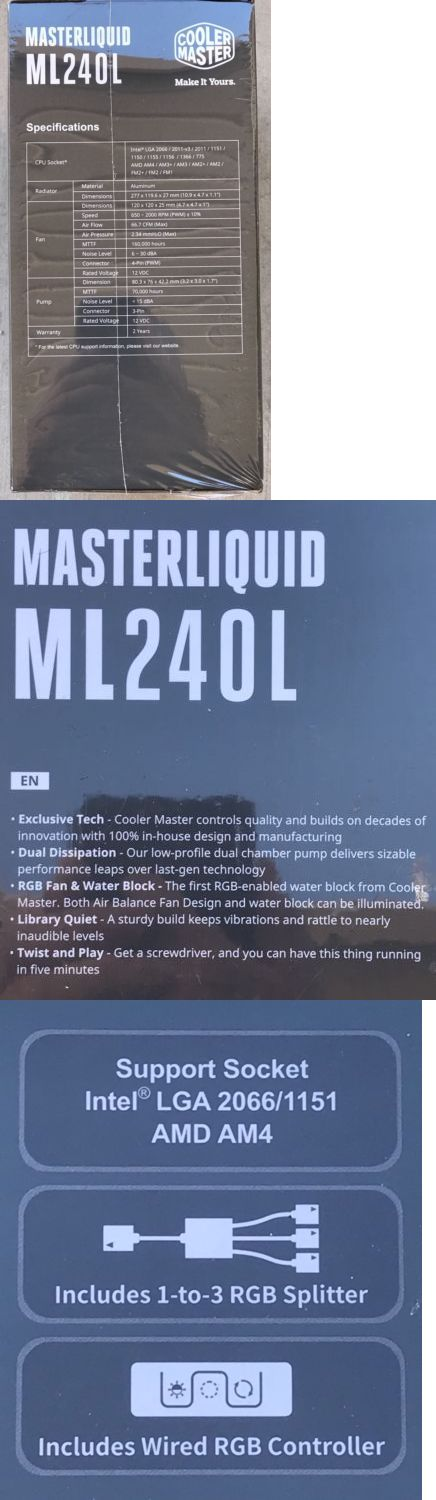 Water Cooling 131503: Cooler Master Masterliquid Ml240l Rgb
