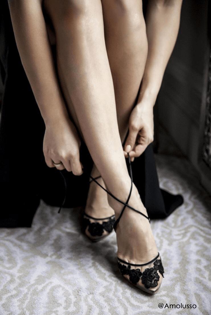 Ankle Wrap Lace Evening Shoes | Evening