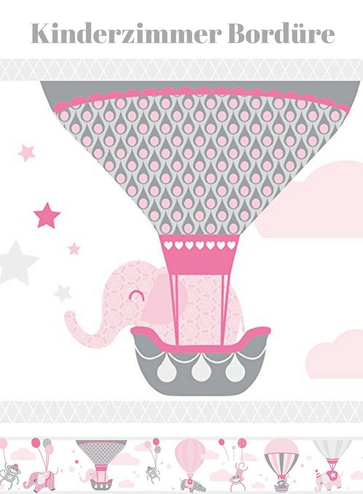 Wandgestaltung für das Babyzimmer in rosa grau | Süsse Elefanten ...