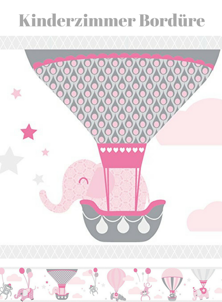 Wandgestaltung Fur Das Babyzimmer In Rosa Grau Susse Elefanten Bordure Zirkus Motiv Wand Bordure Selbstklebend Ho Babyzimmer Kinder Zimmer Wandgestaltung