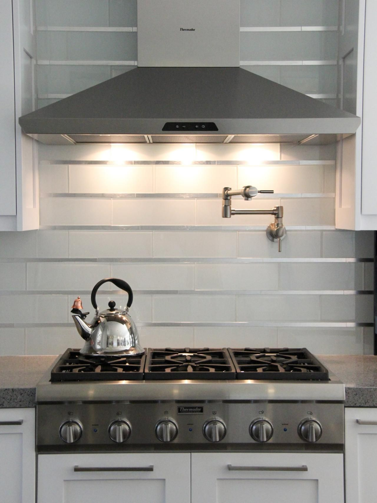 20 Stainless Steel Kitchen Backsplashes Stove Hood Modern