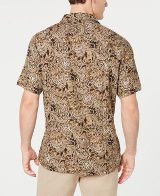 e05d6987d04 Tasso Elba Men s Patino Paisley-Print Silk Shirt
