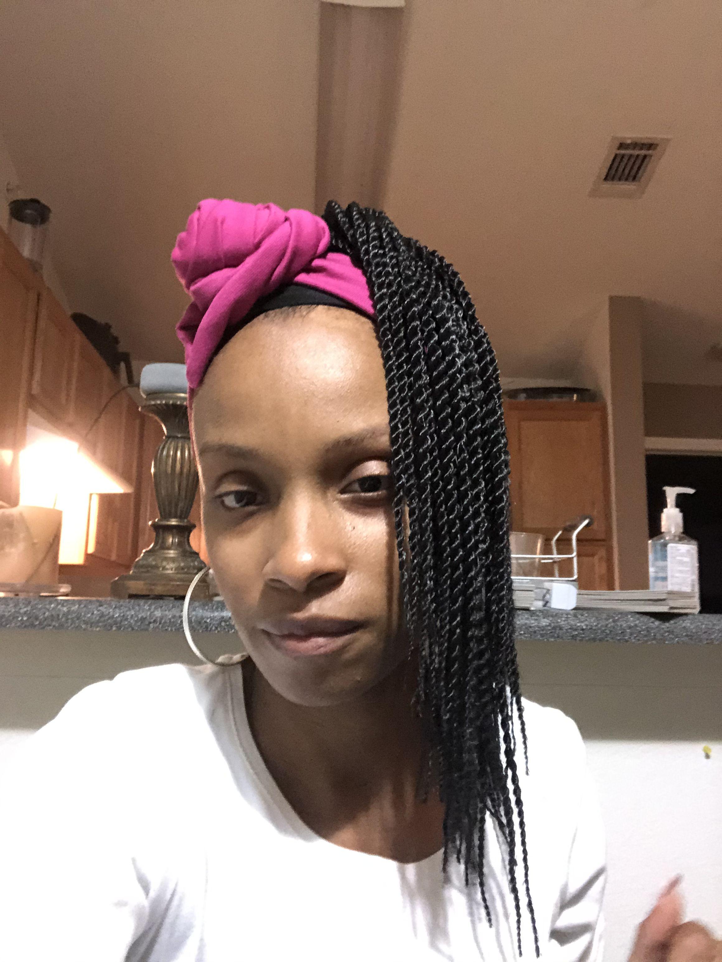 Box Braids Crochet Wig Bun