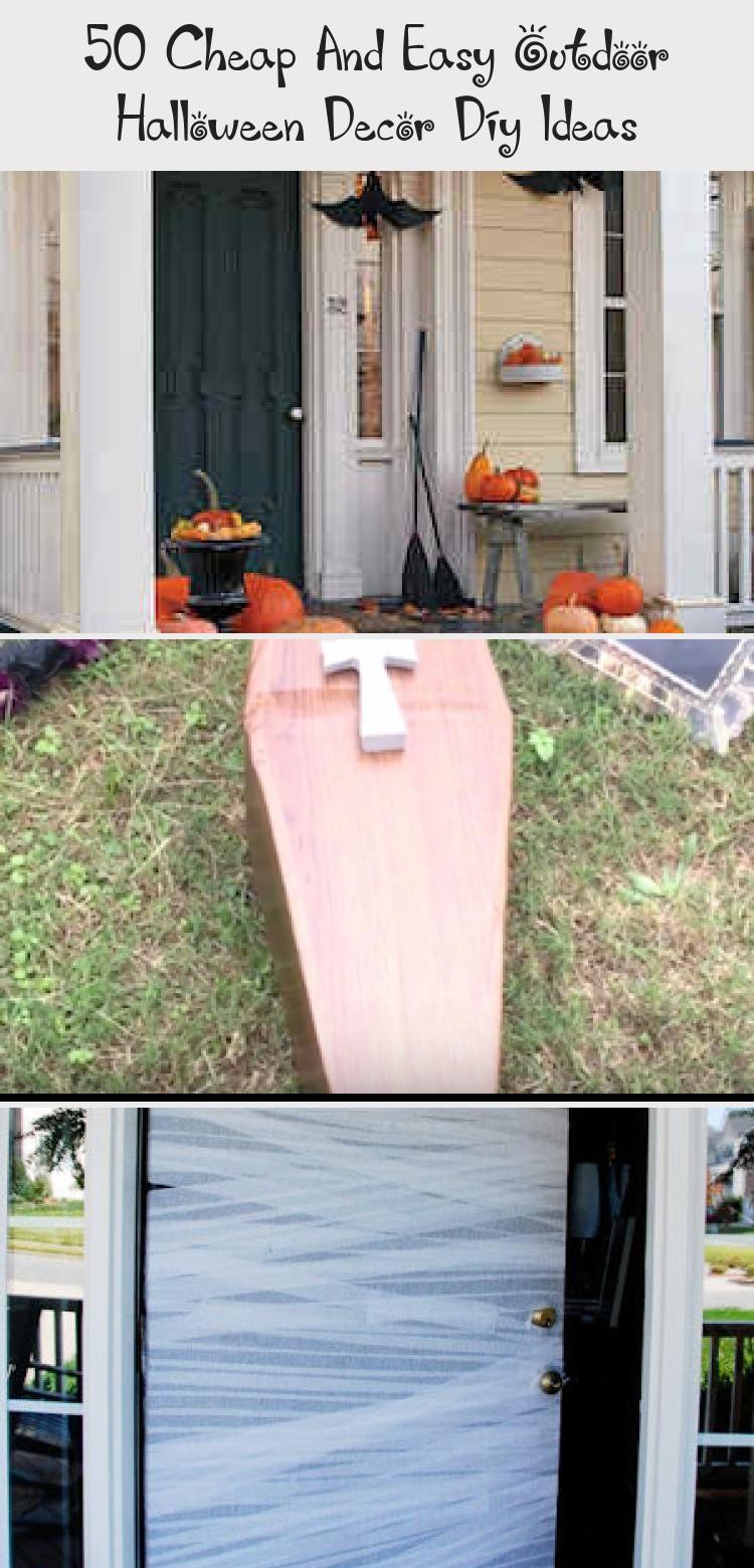 50 Cheap And Easy Outdoor Halloween Decor Diy Ideas In 2020 Easy