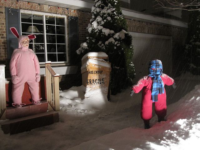 a christmas story yard display