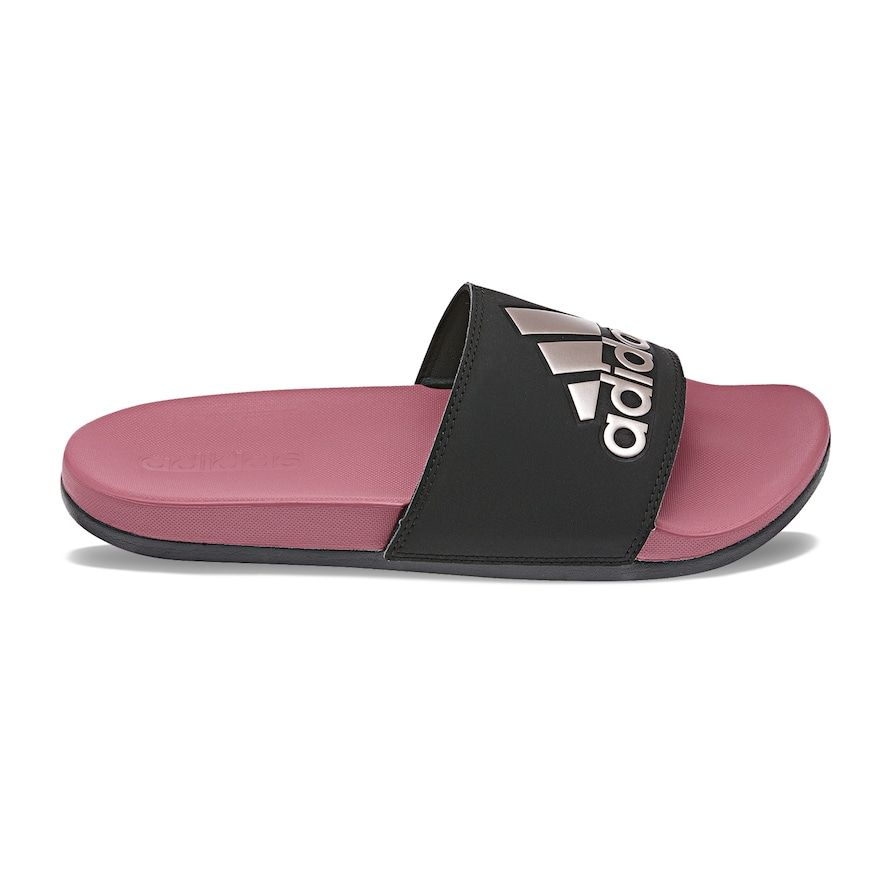 promo code c860e 029c3 The classic Adilette slide gets a comfort upgrade with a cushy Cloudfoam  midsole. Synthetic upper Super soft Cloudfoam midsole f…