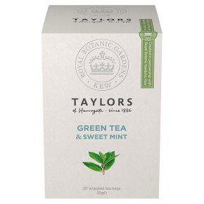 Taylors of Harrogate green tea & sweet mint 20 tea bags