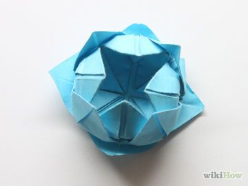 Make a simple origami lotus flower simple origami lotus flower make a simple origami lotus flower step 12 version 2g mightylinksfo