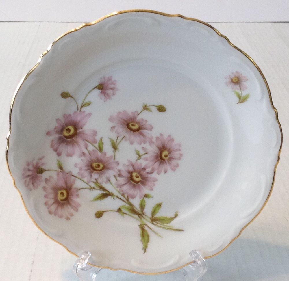 Mitterteich Germany DAISY BELL Salad Plate Pink Flowers #Mitterteich & Mitterteich Germany DAISY BELL Salad Plate Pink Flowers #Mitterteich ...