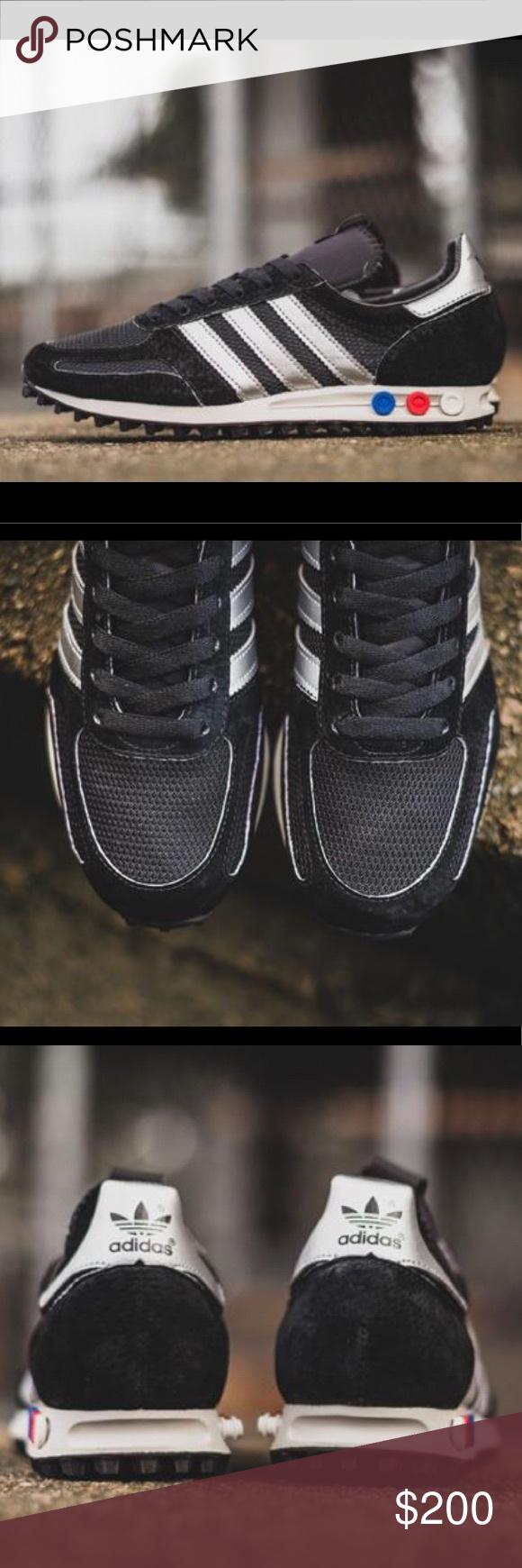 2019 neuer Stil LA Trainer adidas Originals Schwarz