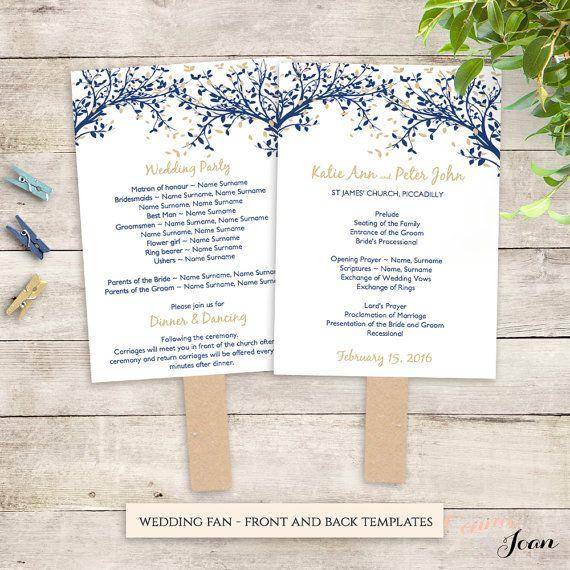 Diy Wedding Program Fan Printable Template Church Service Any Diy Wedding Program Fans Diy Wedding Programs Wedding Program Fans