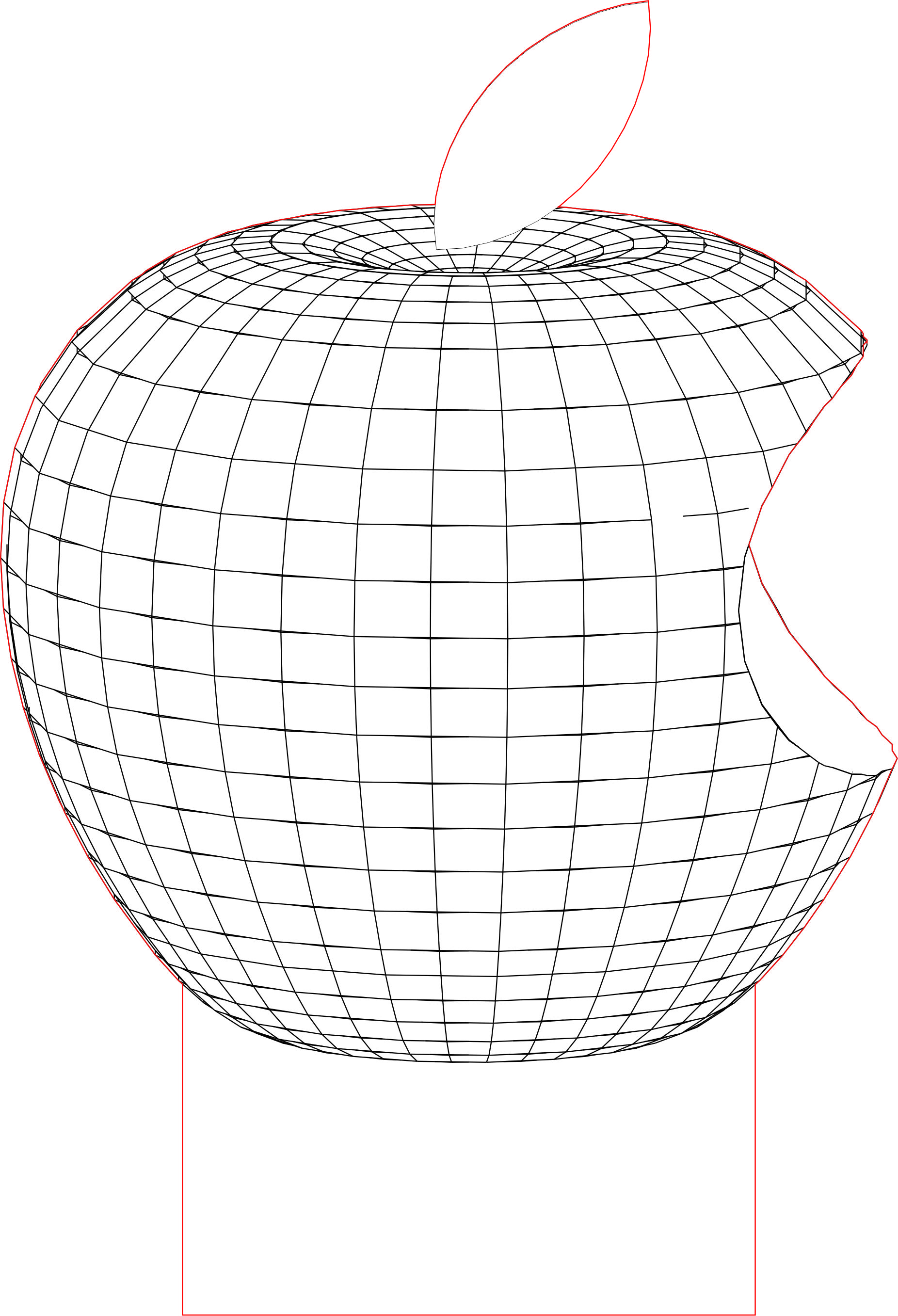 Logotype Apple 3d Illusion Led Lamp Vector File Line Art Design Plexus Products Lasercut Design