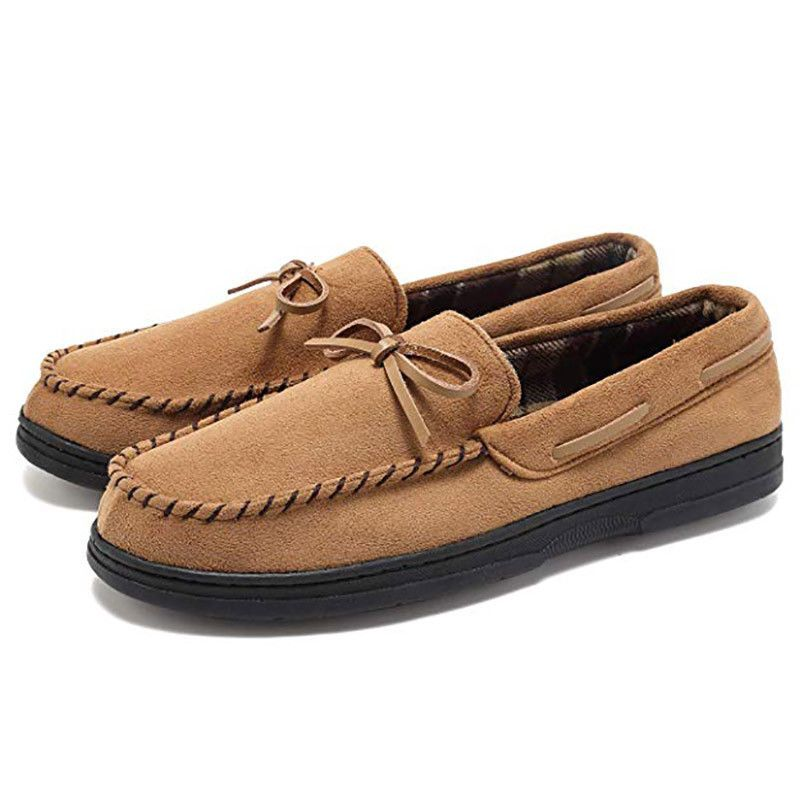 2f5e4b220e46 Men s Suede Loafers Leather Moccasins Flats Minimalism Slip On Peas Shoes  Casual  fashion  clothing