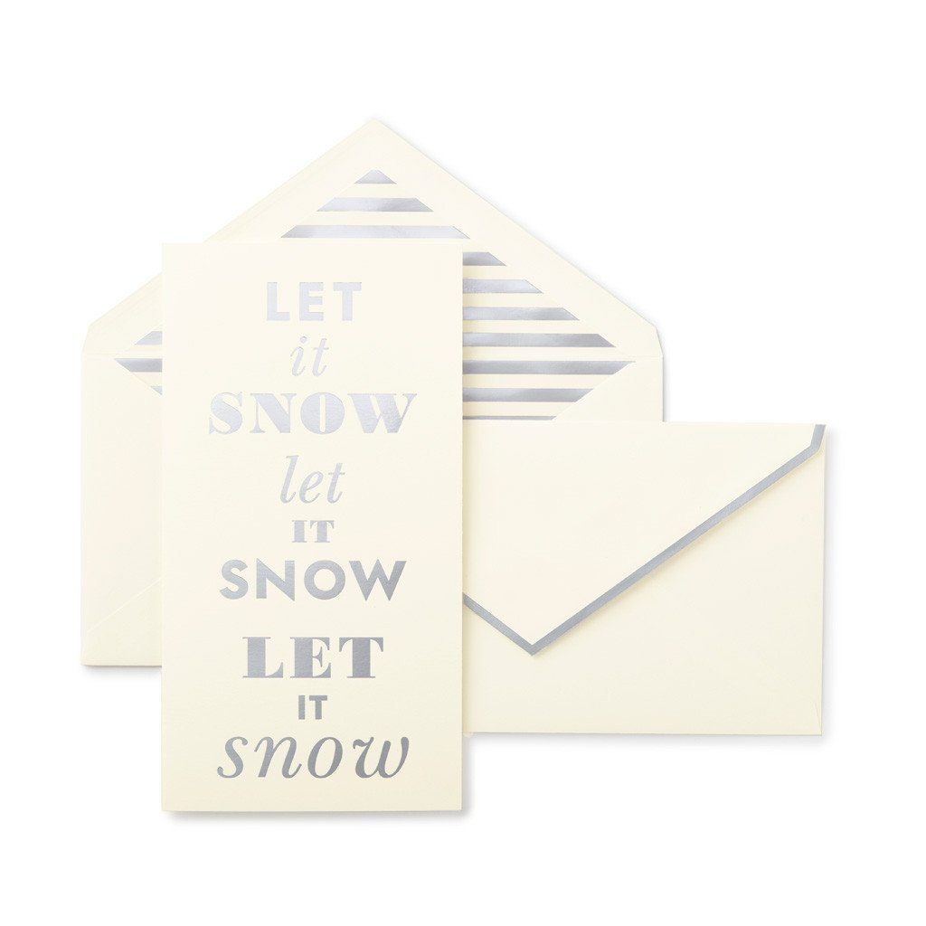 Kate Spade Let It Snow Holiday Card Set | Products | Pinterest ...