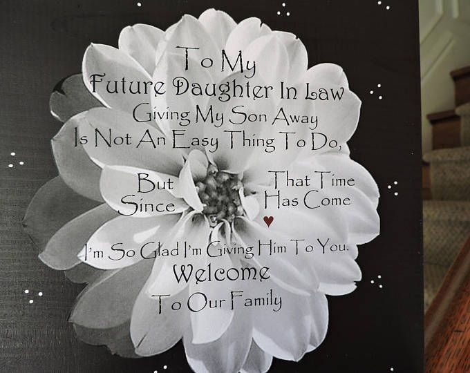 future daughter in law gift welcome to the family gift 9 x 9 sign bridal shower gift gift from mother in law sentimental gift