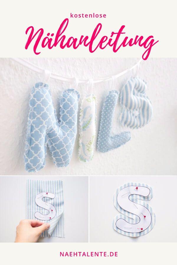 Buchstabenkette für das Kinderzimmer - Schnittmuster & Nähanleitung