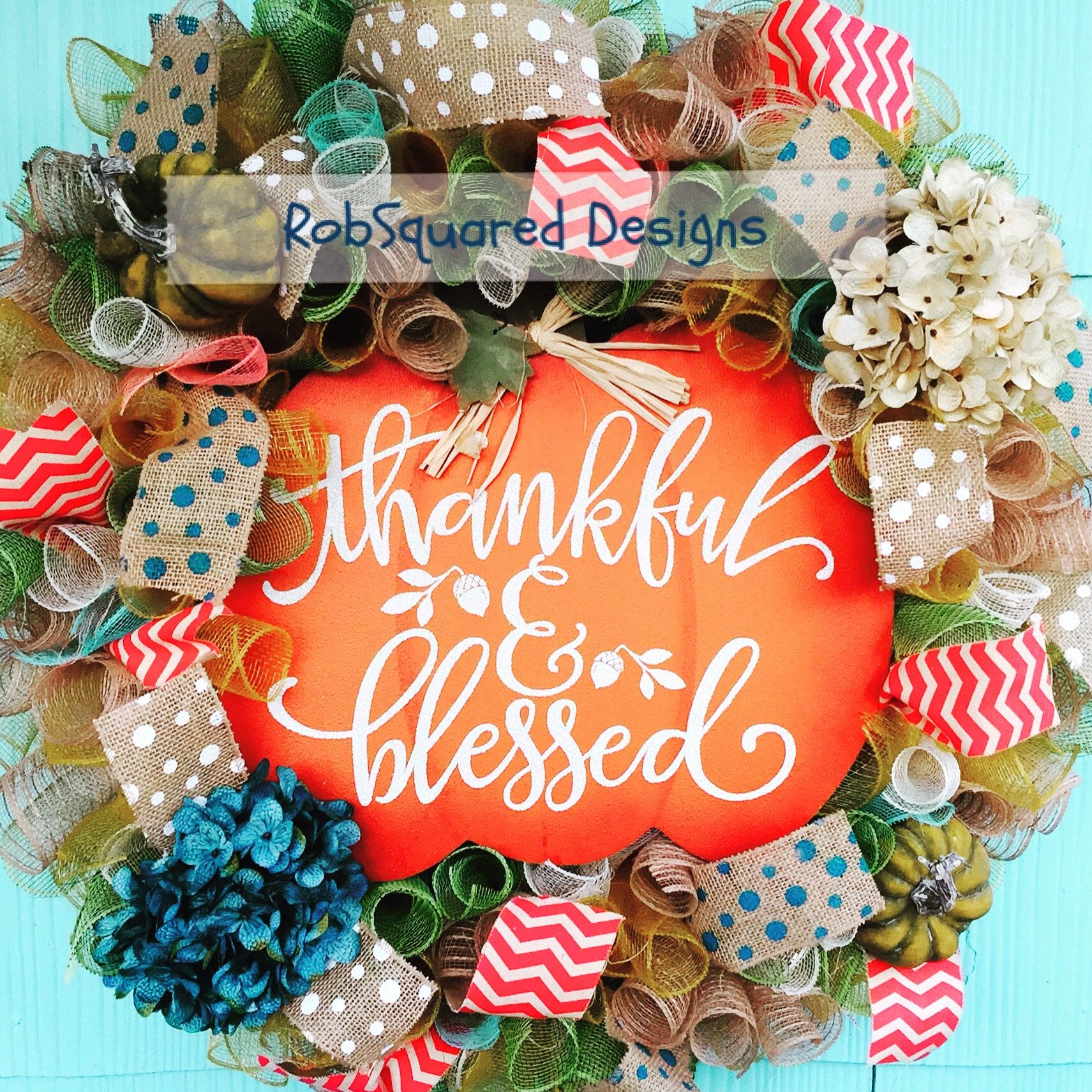 Thankful u blessed fall wreath by robsquareddesigns on etsy