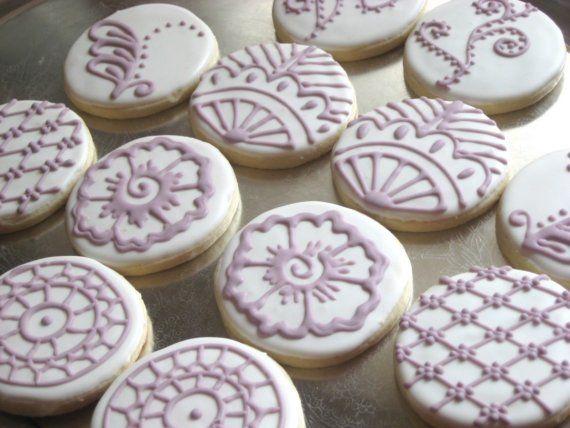 Cake For Mehndi Ceremony : Mehndi inspired decorative cookies sugar and cake