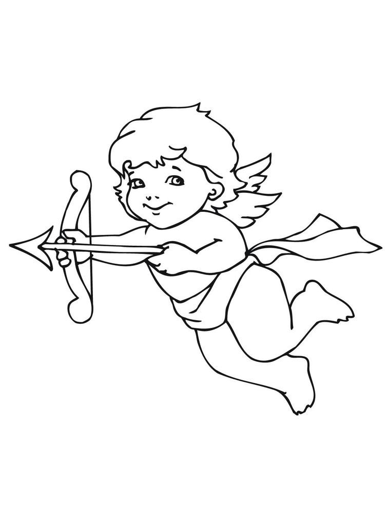 Cupid Coloring Page Cupid Is A Love Fairy Cupid Is A Winged Infant Carrying A Bow And Ar Valentines Day Coloring Page Valentine Cupid Valentines Day Coloring