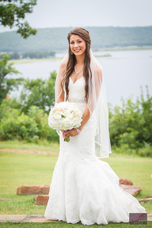 Green and white wedding dress  Stunning Bride A Simply White Wedding Springs  Skiatook Springs